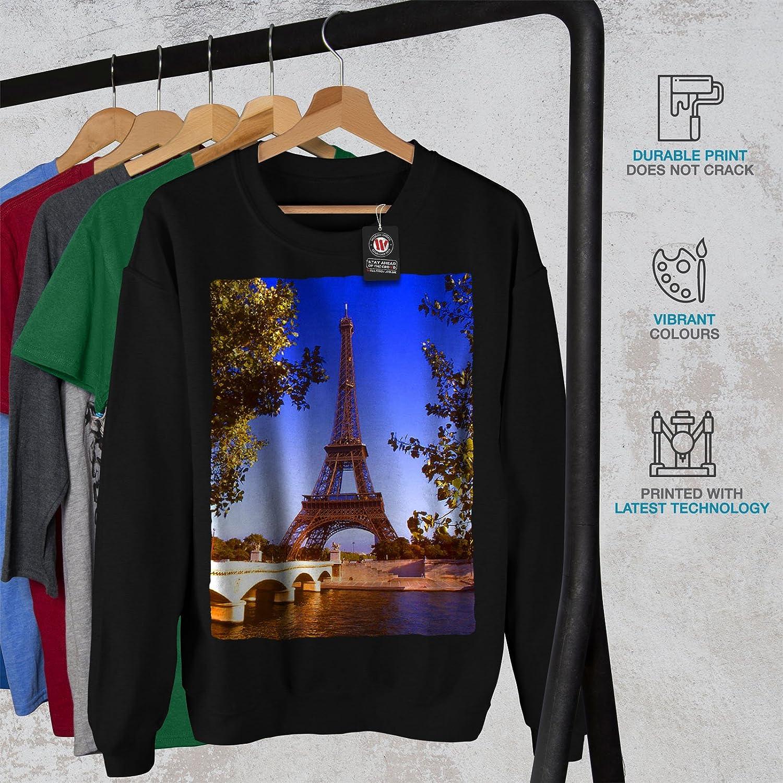wellcoda Landmark Tower Park Mens Sweatshirt Paris Casual Jumper