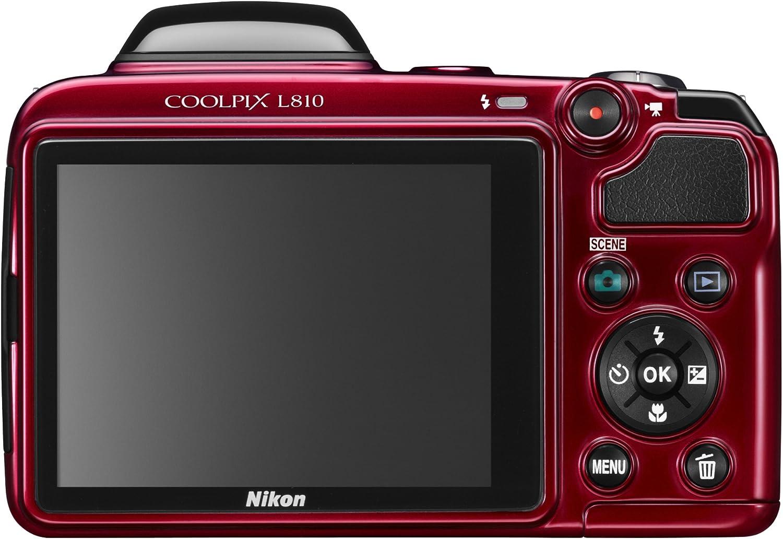 Nikon Coolpix L810 Digitalkamera 3 Zoll Rot Kamera