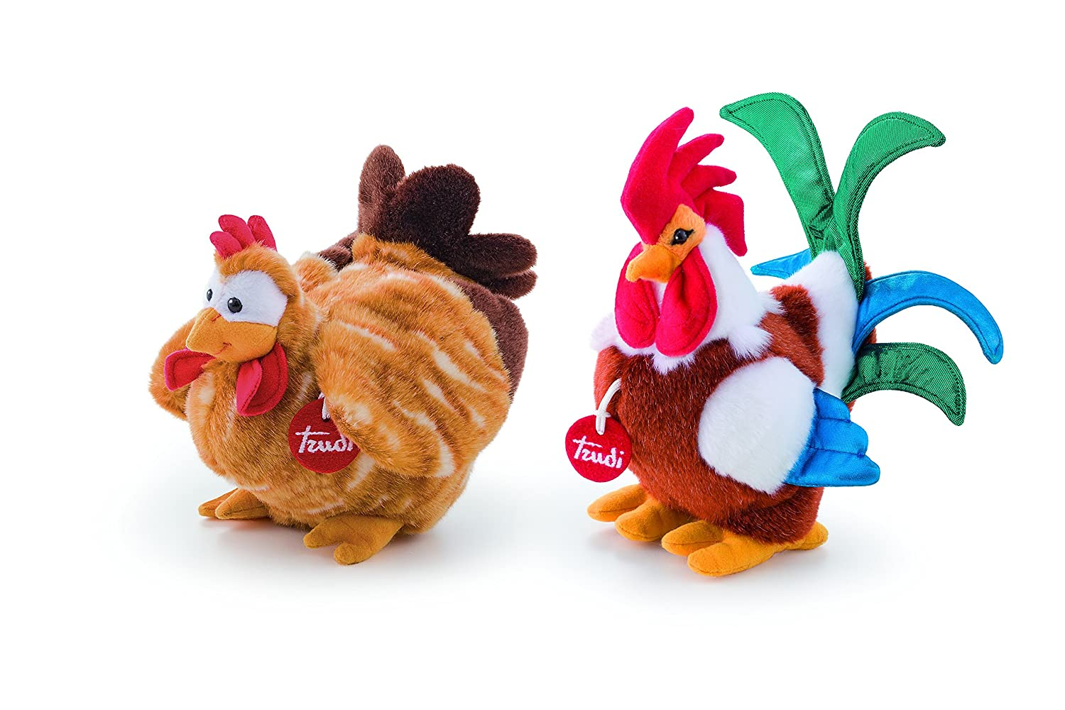 Amazon.com: Trudi 20123 Peluche Poule Florenza Hen Soft Fluffy Stuffed Animal Plush Toy: Toys & Games