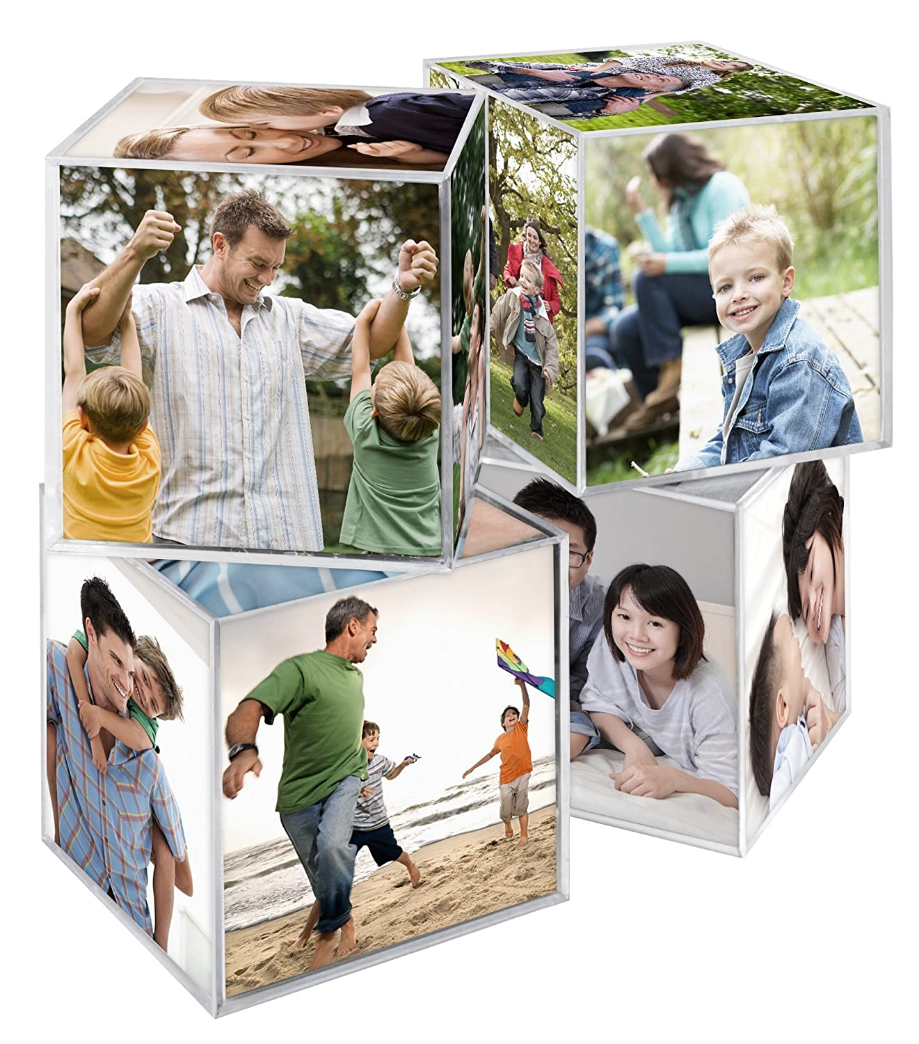 MCS Clear Plastic 6-Sided Photo Cube (4 Pack) MCS Industries Inc. 65750