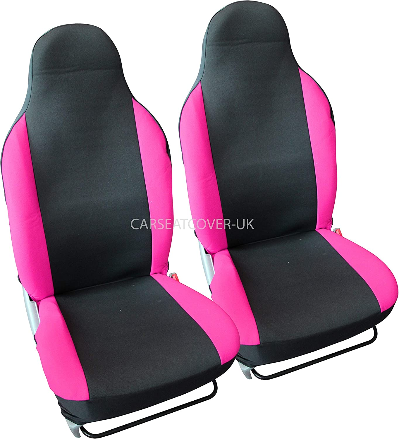 Carseatcover-UK Luxury Black /& Orange Car Seat Covers Protectors 2 x Fronts