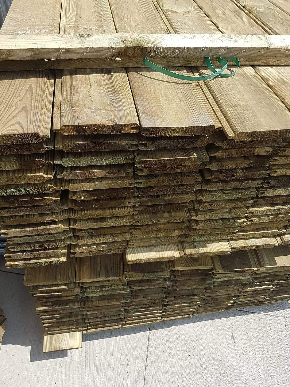 ITALFROM Cuentas Láminas de Madera de Pino impregnadas de Calidad A/B Grosor 21 X 135 mm. Longitud 300 cm: Amazon.es: Hogar