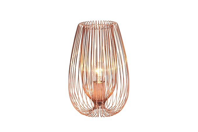 Contemporary modern copper wire table light lamp 42w amazon contemporary modern copper wire table light lamp 42w greentooth