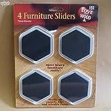 4 Furniture Sliders - 70mm Diameter