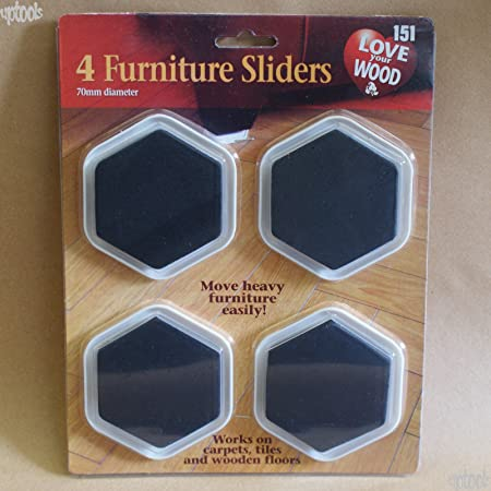 4 Furniture Sliders   70mm Diameter