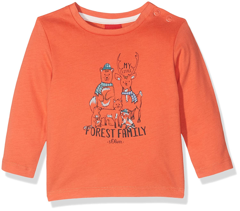 s.Oliver Baby-Jungen Langarmshirt (Orange 2051) 68 65.710.31.7554
