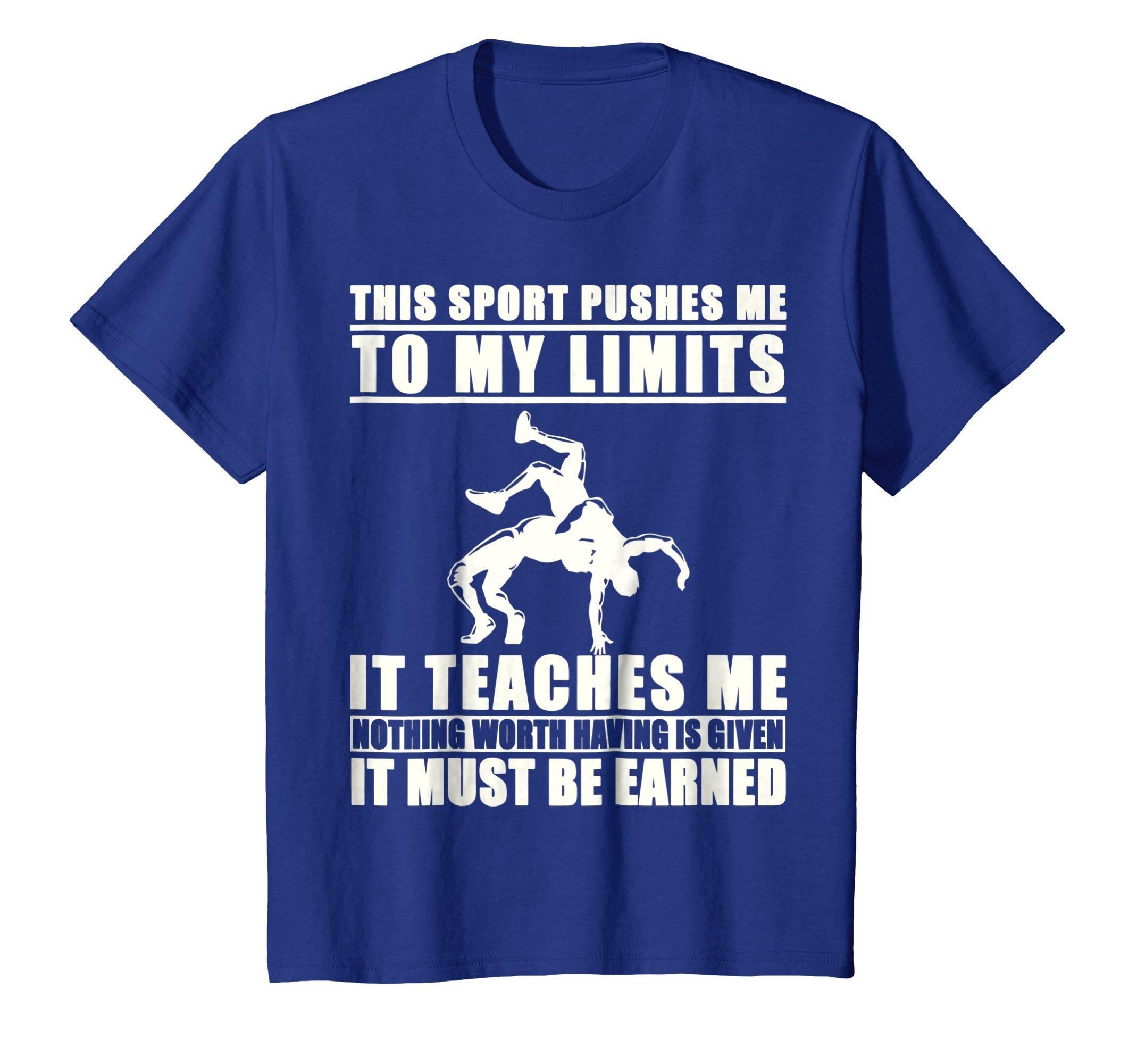 Kids It Must Be Earned Wrestling T-Shirt 12 Royal Blue by It Must Be Earned Wrestling Shirt
