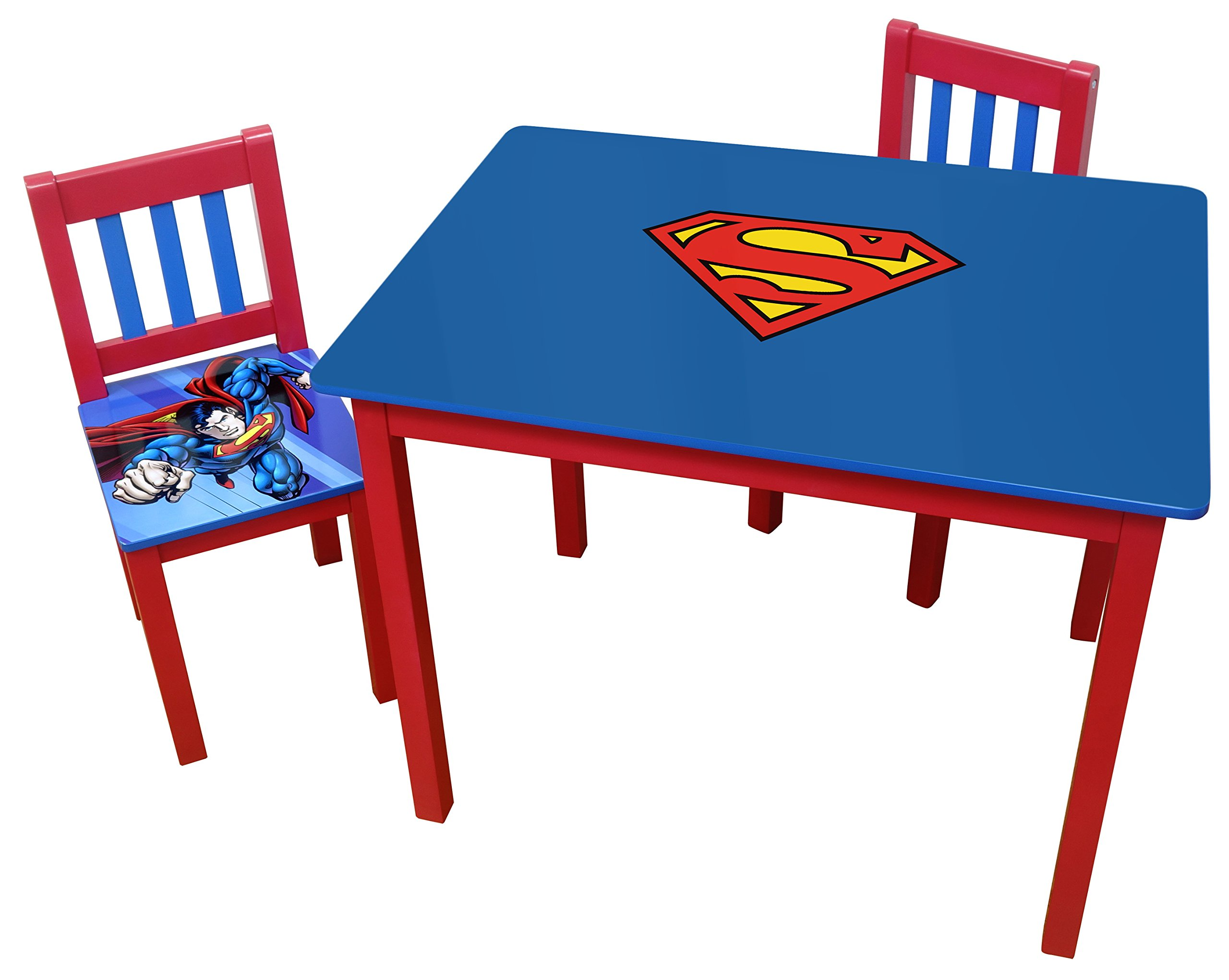 O'Kids Superman Wooden Table and Chair Set
