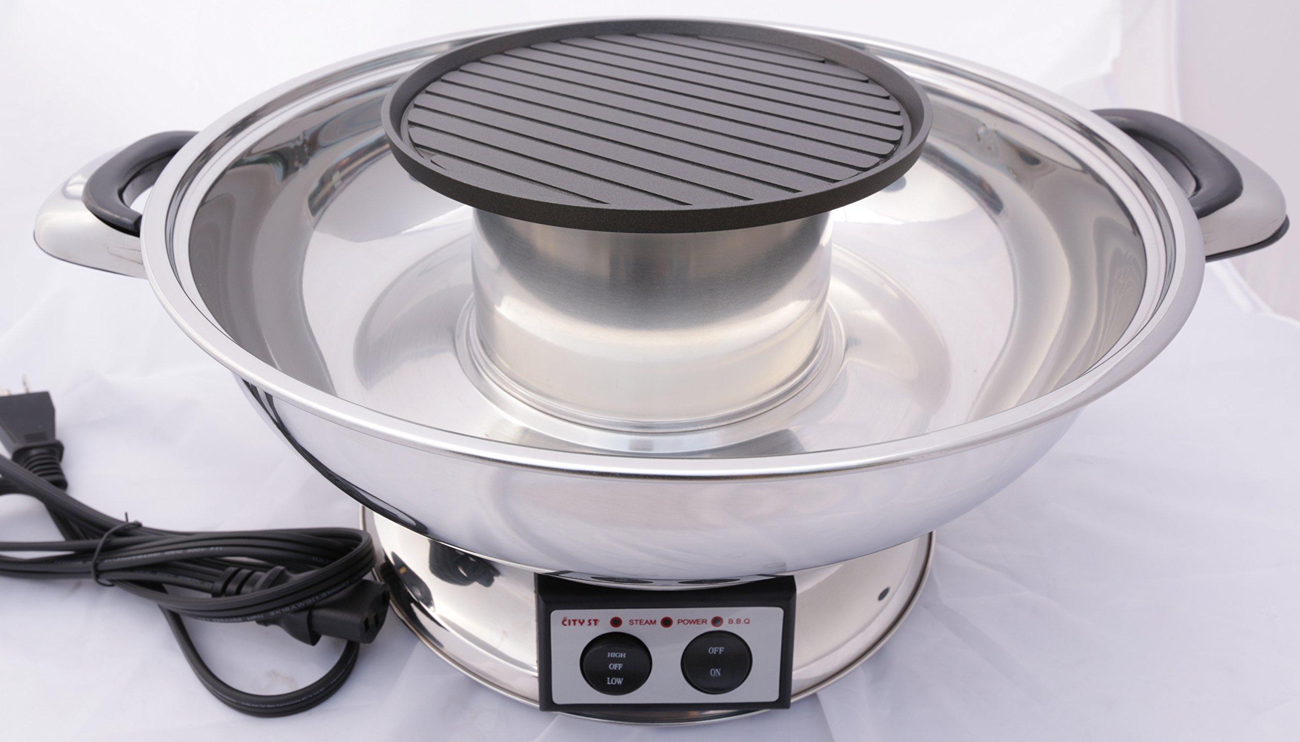 City ST Shabu Shabu Hot Pot w/BBQ Grill by City ST