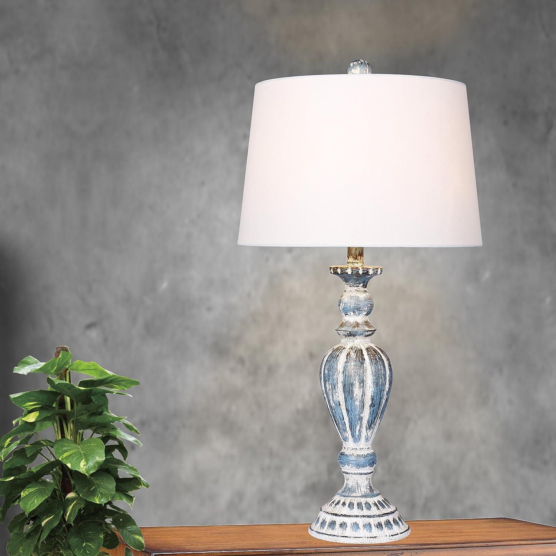 Cory Martin W-6244CAB-2PK Table Lamp 29.5 Cottage Antique Blue 2 Set Fangio Lighting