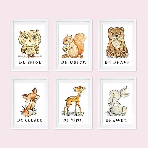 photo about Printable Prints named : Gender impartial animal print Printable woodland