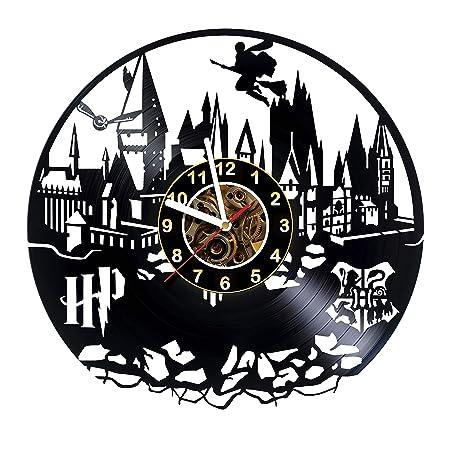 Iskra Shop Harry Potter – Hogwarts – Vinyl Record Wall Clock – Hogwarts Express – Get Unique Kids Room Wall Decor – Gift Ideas for Boys and Girls, Teens, Friends Unique Art Design of Magic Train