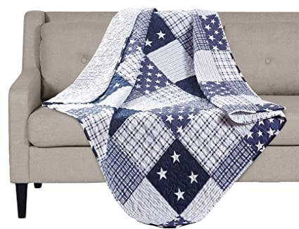 Amazon SLPR Americana Pride Printed Quilted Throw Blanket 40 Extraordinary How To Make A Quilted Throw Blanket