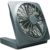 """O2COOL 10"""" Battery Powered Portable Fan with AC Adapter"""