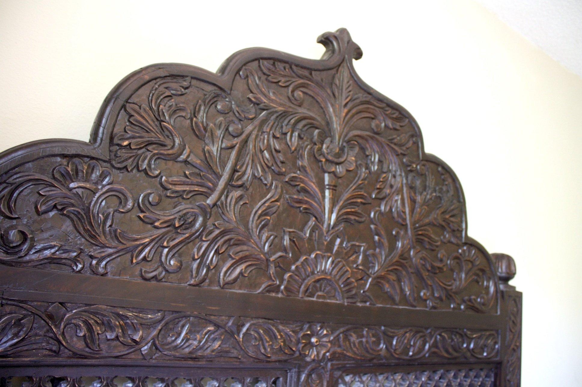 Carved Lattice Headboard by Worldcraft Industries, Standard King