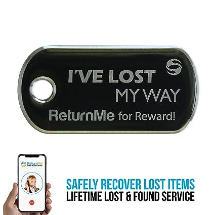 7d8c4b924fa4 ReturnMe Key Tag - Lifetime Lost & Found Service for Your Keys (Black)