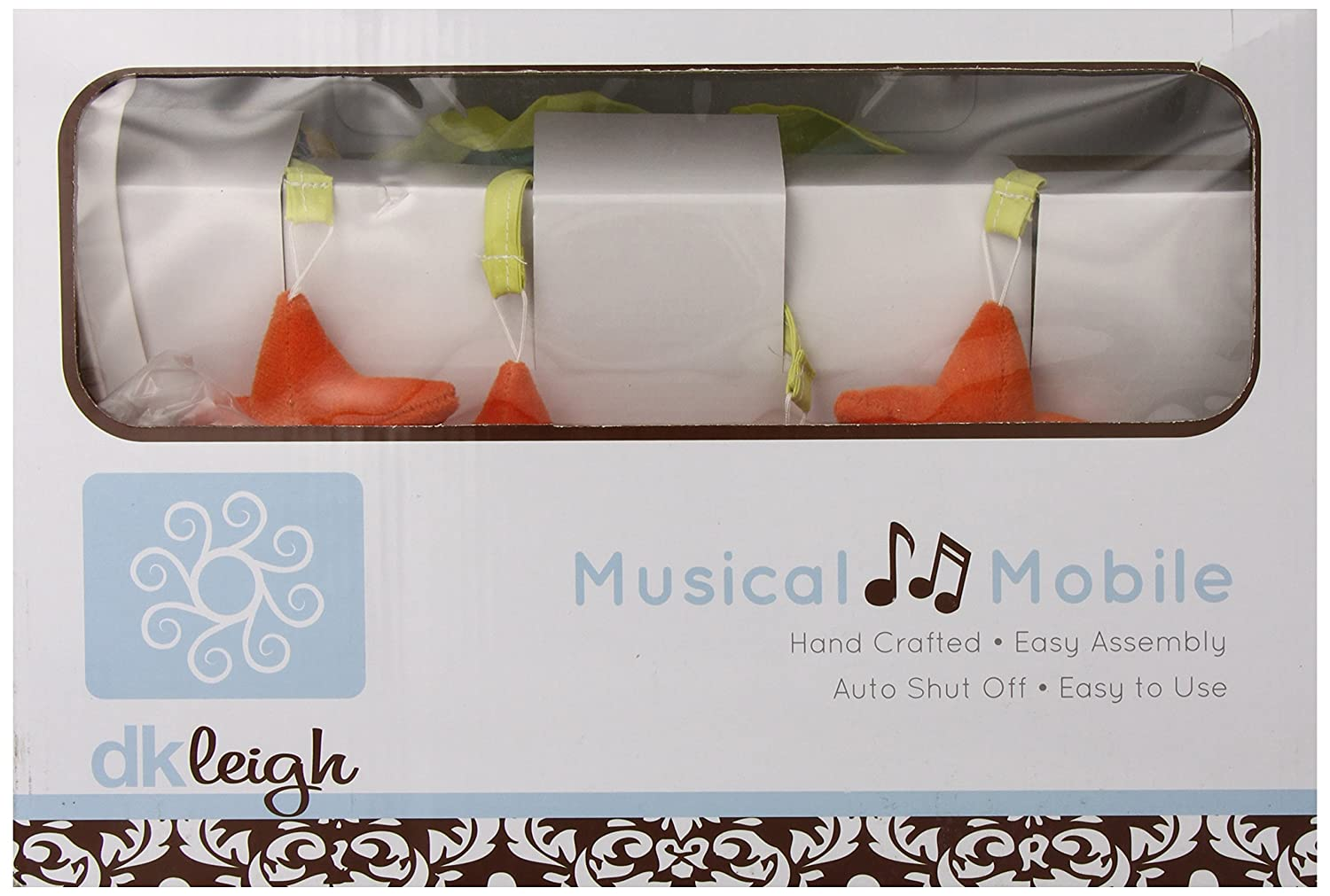 DK Leigh Musical Mobile, Red Graphic Floral redmbl