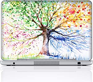 Meffort Inc 15 15.6 Inch Laptop Notebook Skin Sticker Cover Art Decal (Included 2 Wrist pad) - Four Seasons Tree