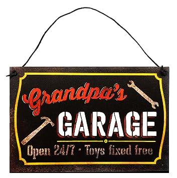 Amazon.com: StudioR12 - Cartel de garaje para abuelo, 7.5 x ...
