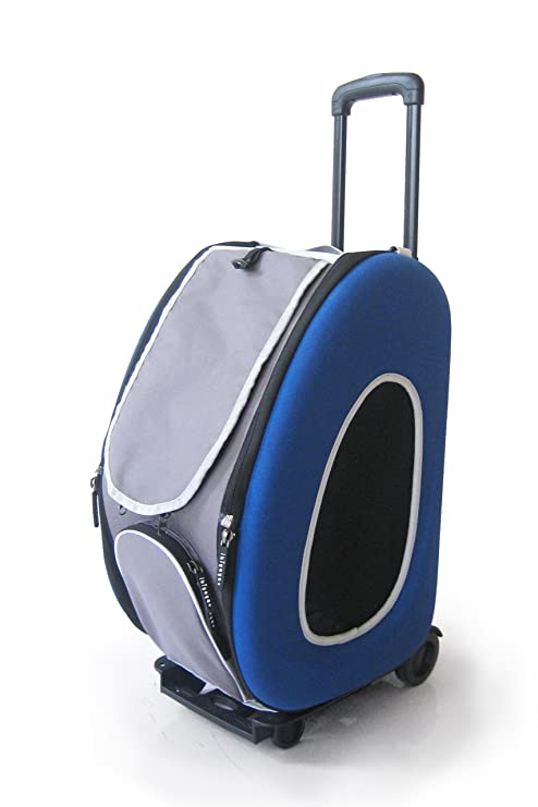 Innopet Pet Cochecito, ips-025/azul, Transportín para Perros, con Ruedas