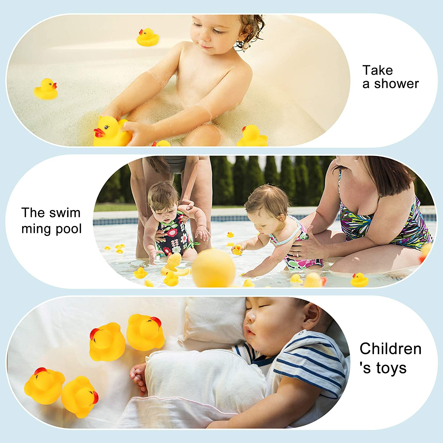 Xiran an Excellent Children Bath tub Toy Great Choice of Gift for Gatherings and Parties 50 pcs Mini Yellow Rubber Duck