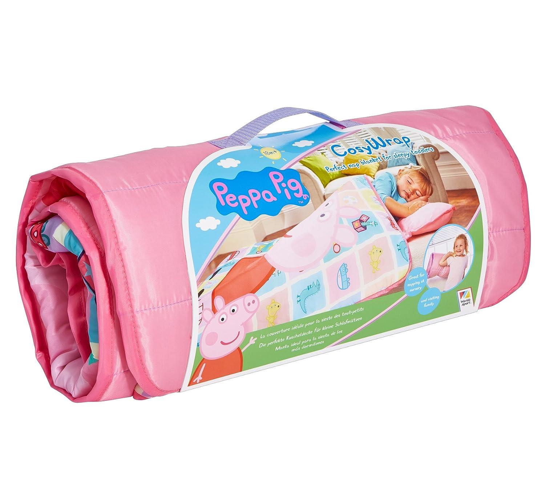 familie24 Peppa Pig Cosy Wrap 110 x 72 Saco de Dormir Saco de Dormir Infantil Camping Acampar Cuna de Viaje: Amazon.es: Hogar