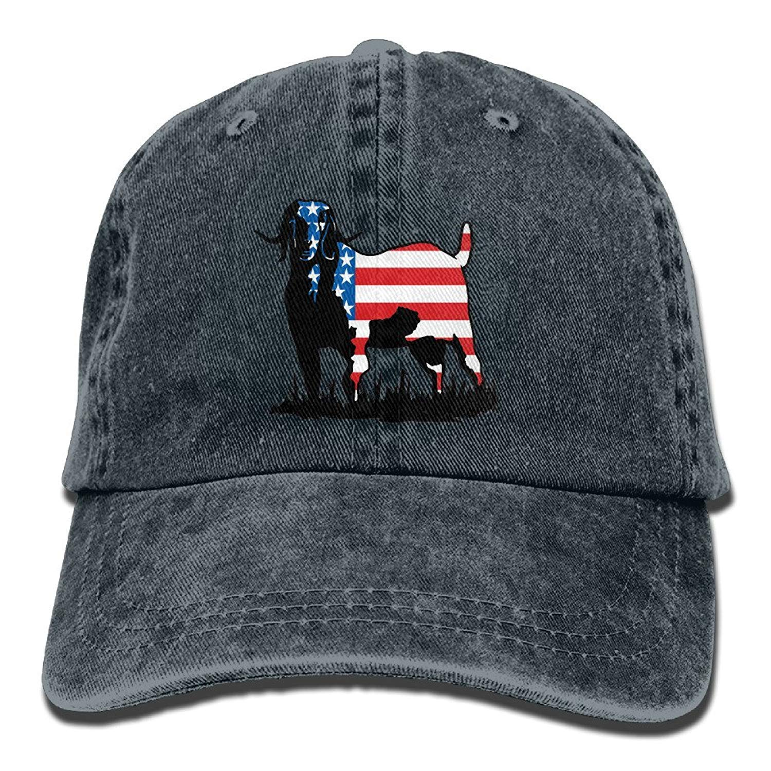 JTRVW Colorrado Boer Goat Flag Vintage Jeans Baseball Cap Outdoor Sports Hat for Men and Women