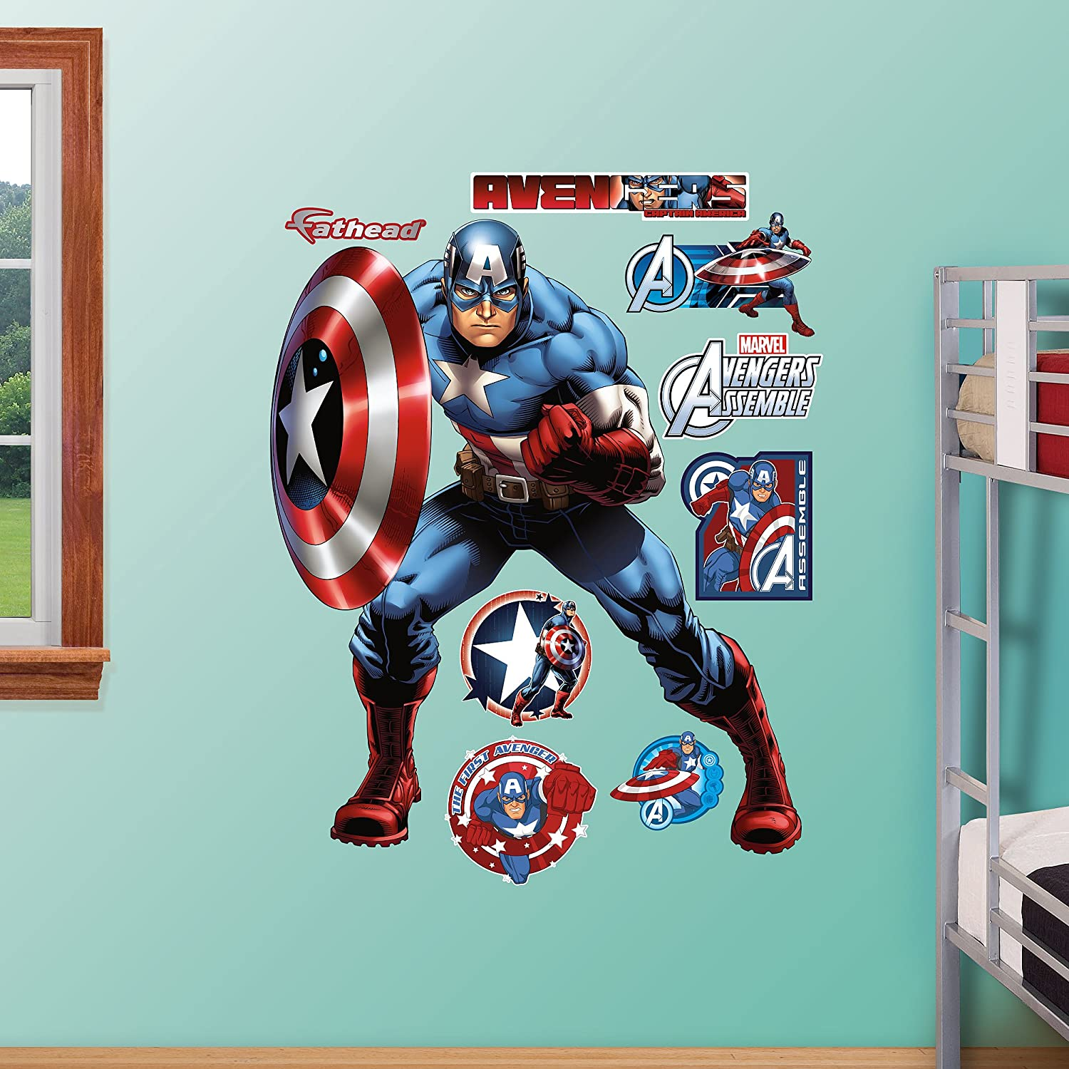 Fathead Captain America-Avengers Assemble Real Big Wall Decal