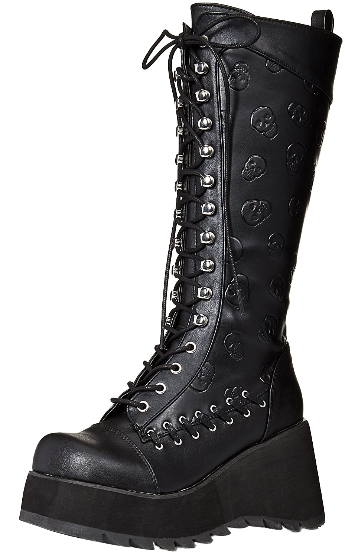 Demonia Women's SCENE-107 Boot, Black Vegan Leather SCE107/BVL