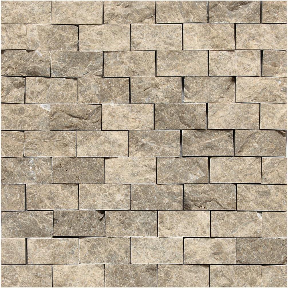 Dal-Tile M701MARQUISMS1L Marble Tile Carrara White Marquise Mosaic Polished 13 x 19 1//2