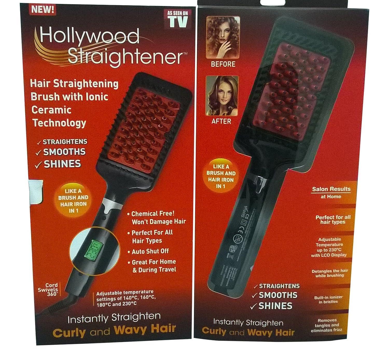 Simply Hollywood alisador de pelo - Straight glättb ürste plancha de pelo cepillo de pelo: Amazon.es: Salud y cuidado personal