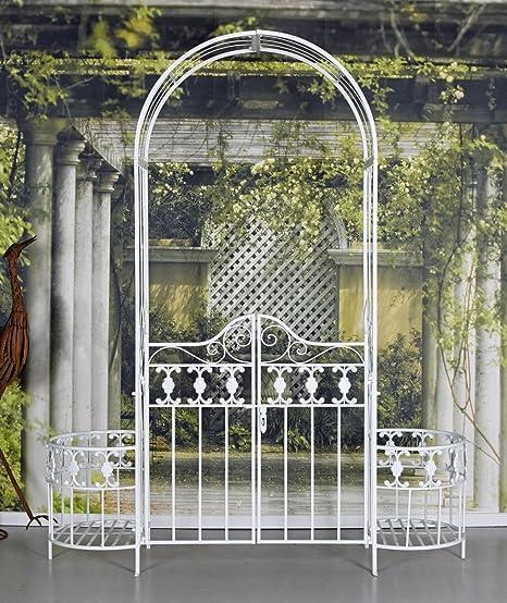 Arco de Puerta Blanco Toscana Puerta de Jardín Arco Rosas Pérgola Eisentor Portal Del Jardín Palazzo Exclusivo