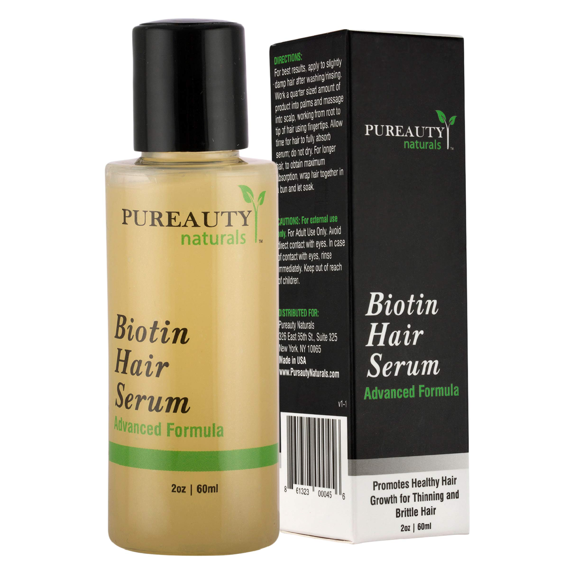 Biotin Hair Growth Serum Advanced Topical Formula To Help Grow Healthy, Strong Hair Suitable for Men and Women of All Hair Types Hair Loss Support By Pureauty Naturals by Meraz Pureauty Naturals