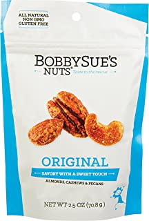 product image for BobbySue's Nuts! Original Style Nuts – Gourmet Savory Mix of Almonds, Cashews, Pecans (2.5 oz (pack of 6))