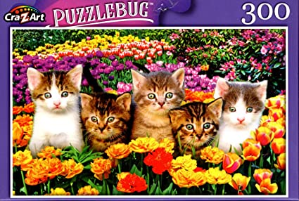 Puzzlebug Cute Kittens On The Grass 300 Piece Adult Zigsaw Puzzle