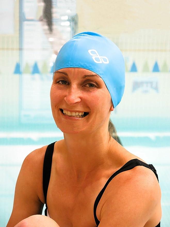 Extra Large Pool Swimming Cap Shower Capfor Long HairWomen /& Men Red