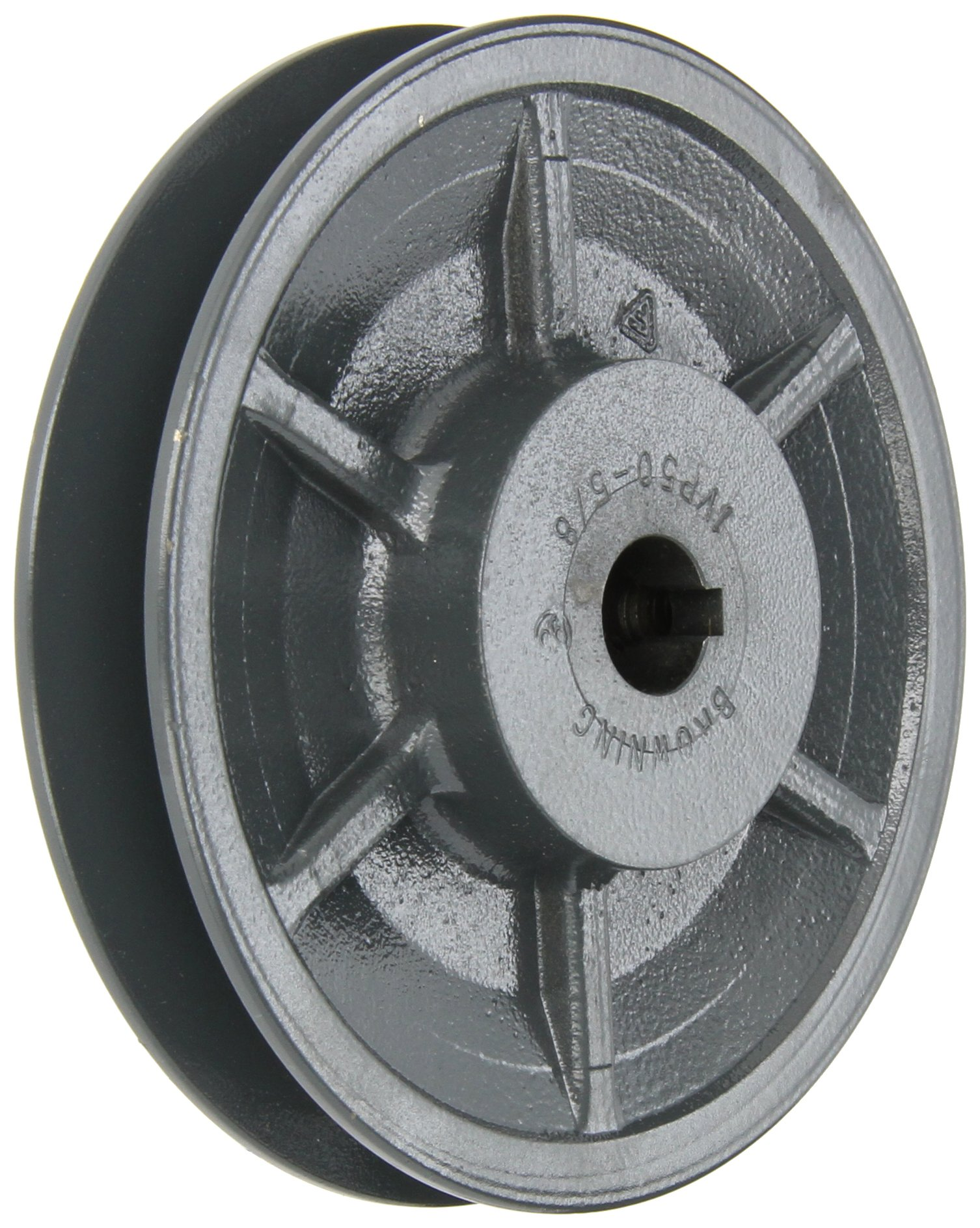 Browning 1VP50X5/8 Variable Pitch Sheave, 1 Groove, Finished Bore, Cast Iron Sheave, for 3L, 4L or A, 5L or B Section Belt