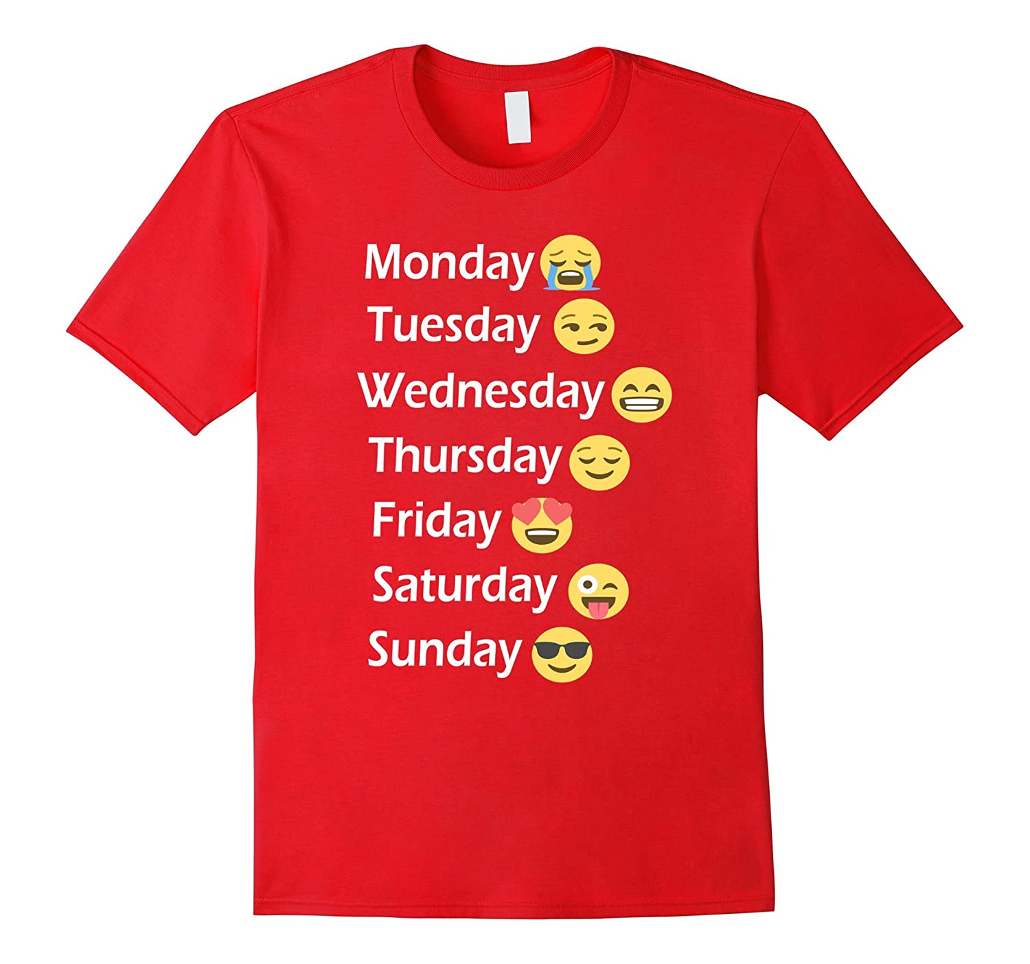 a0612cc5 Love Your Emoticons 7 Days a Week Emoji T-Shirt-CD – Canditee