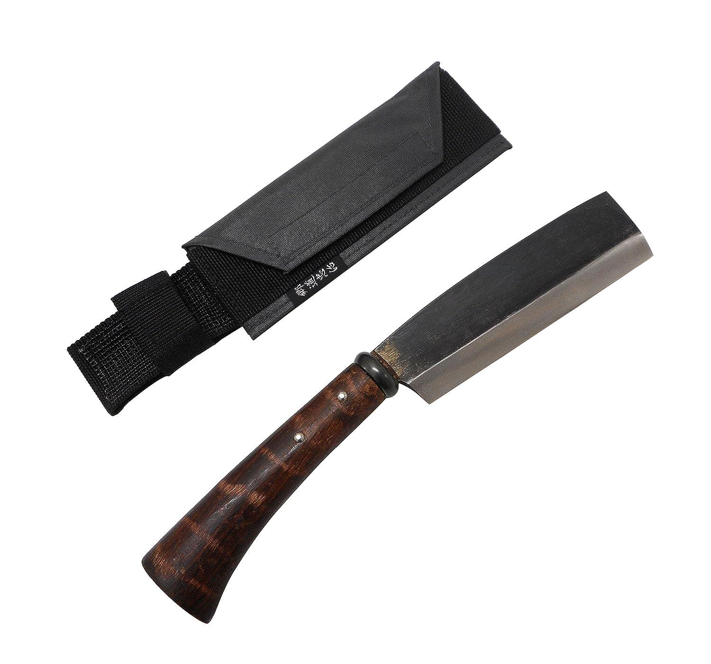 相田合同工場 片刃鉈 藤乃鉈 本鍛造鋼付 五寸刃 150mm 鞘付 B00472MABE