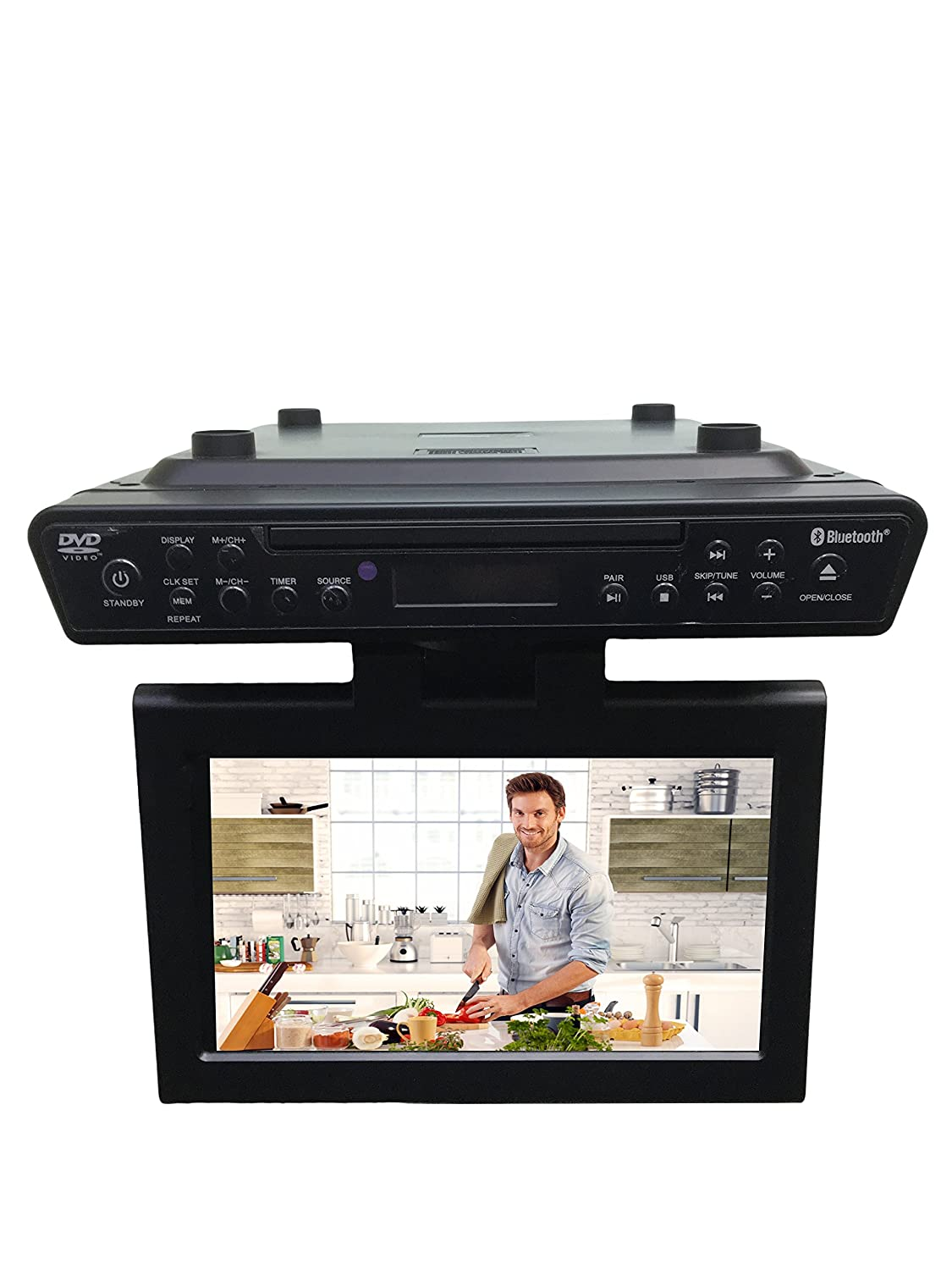 Under Kitchen Cabinet Radio Amazoncom Sylvania Skcr2706bt 102 Under Cabinet Kitchen Tv