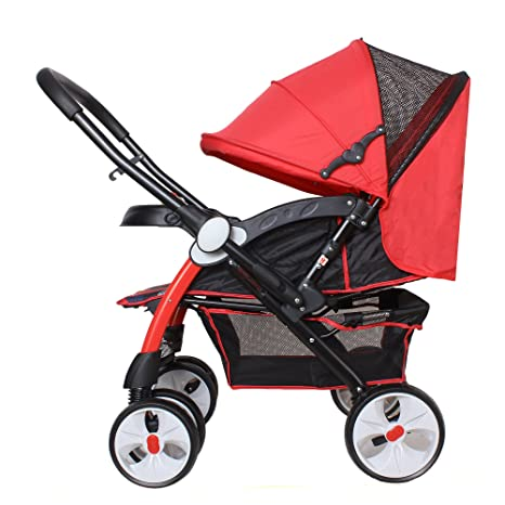 Buy Abdc Kids Red Camel Pram Stroller Reversible Handlebar Extra Wide Seating Online At Low Prices In India