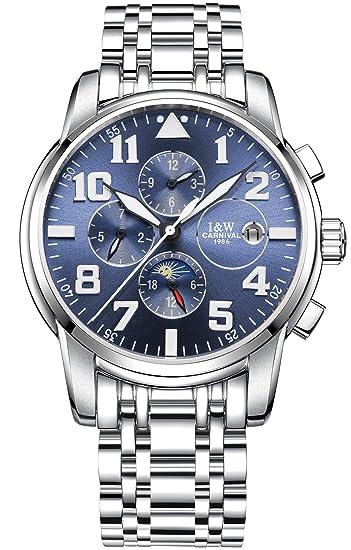 b2ba616ea5fb Carnival - Reloj automático para Hombre (Acero Inoxidable