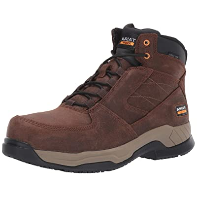 Ariat Men's Contender Steel Toe Industrial Boot, ash Brown, 7.5EE | Industrial & Construction Boots