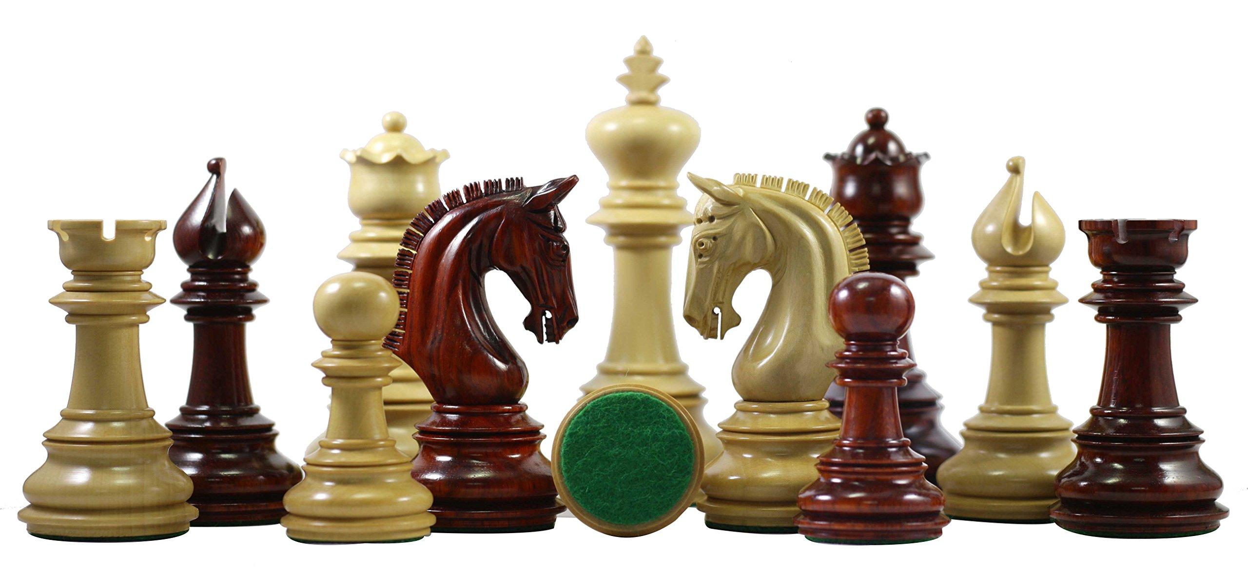 Staunton Castle Alexandria Series Premium Chess Pieces 4.5''