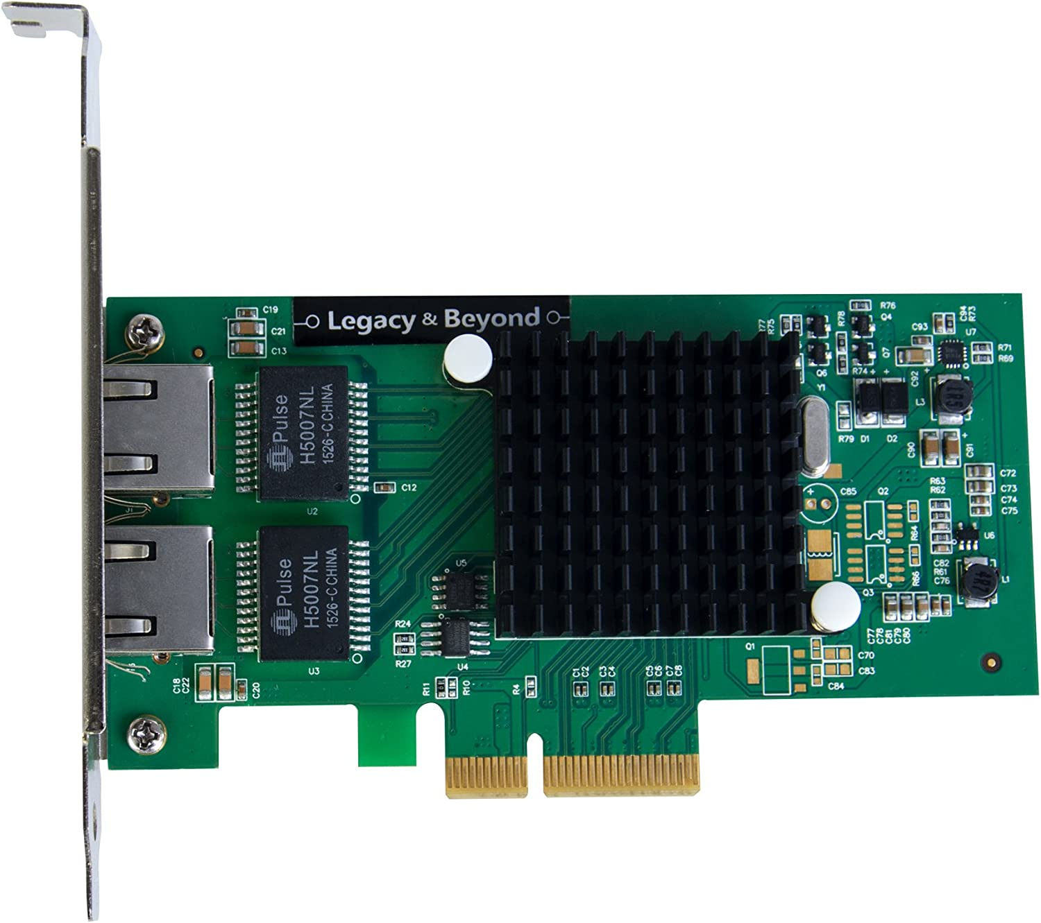 SIIG Dual-Port Gigabit Ethernet PCIe 4-Lane Card I350-T2 Network Adapter PCI Express x4 Low Profile Ethernet Green LB-GE0014-S1