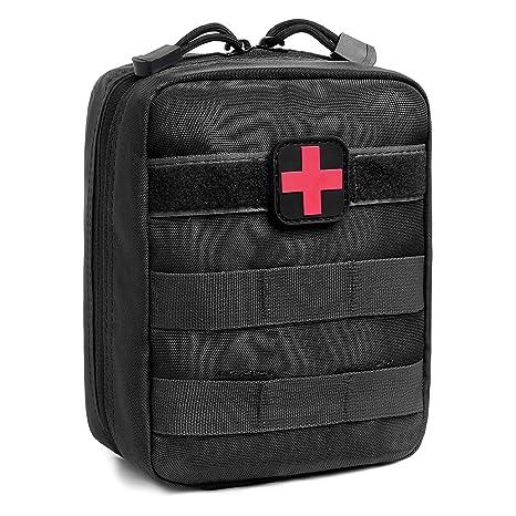ZONE FR Bolsa Médico MOLLE, Botiquín Primeros Auxilios Auxilios Táctica Compacta Escalada Caza