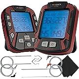 Maverick PRO-Series XR-50 Extended (500FT Range, 4 Probe) Digital Remote Wireless BBQ, Meat & Smoker Thermometer, Black…
