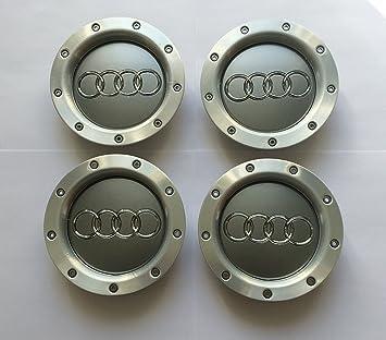 Juego de 4 Audi metal ligero Cilindro de Badges Central Tapacubos 146 mm 8d0601165 K A2