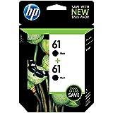 HP 61 Black Original Ink Cartridges, 2 pack (CZ073FN)