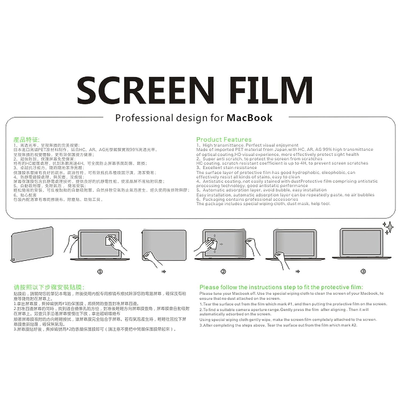 Retina, 15 Pulgadas, Mediados de 2012 a Mediados de 2015 Pel/ícula Protectora HD con Revestimento Hidrof/óbico Oleof/óbico LENTION Protector de Pantalla Claro para MacBook Pro - Modelo A1398